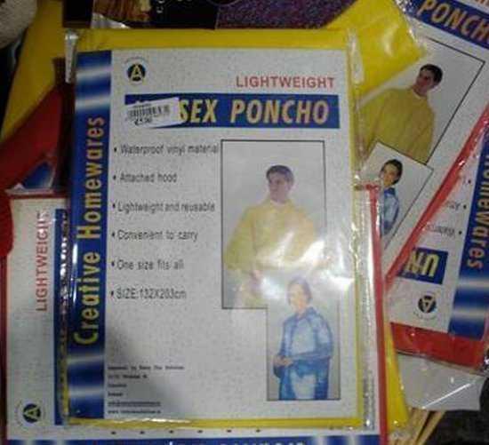 Sex poncho
