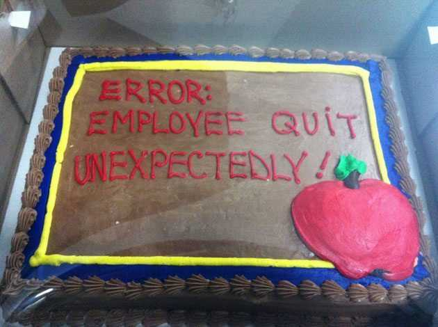 Quit Job Funny Funny Quitting Your Job Cake