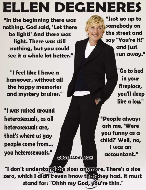funny quotes ellen degeneres Funny Quotes For The Week
