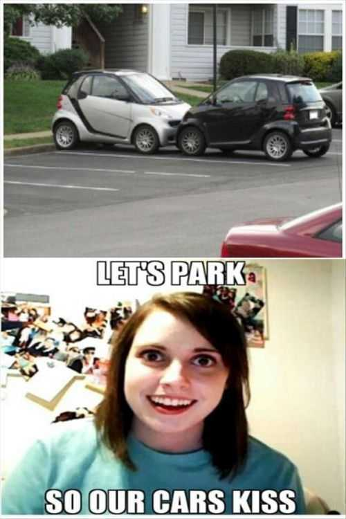 kissing cars