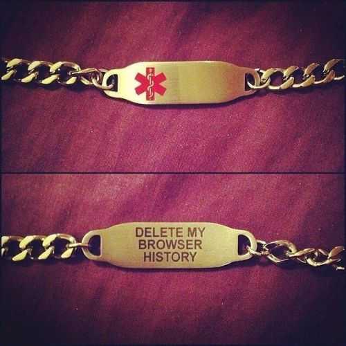 medicare bracelet delete my browsing history