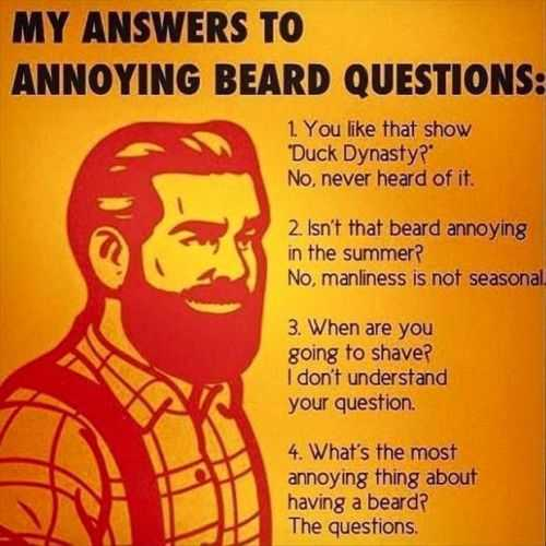 my answers to annoying beard questions