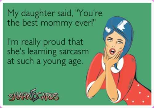 sarcasm e card