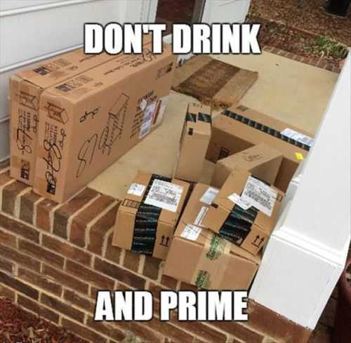 dont drink and prime