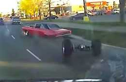 Dodge Dart Falls Apart While Attempting To Show Off featured