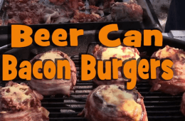 beer can bacon burgers recipe video