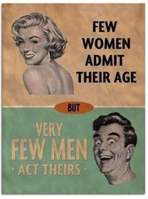 few women admit their age. very few men admit their age. how many women actually admit their age
