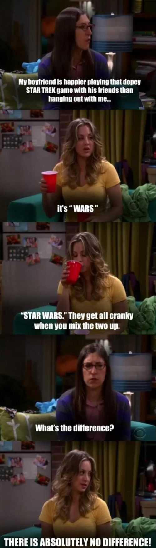 funny star wars argument big bang theory