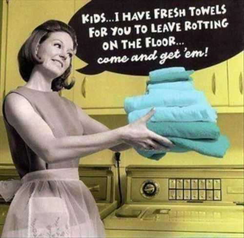 funny vintage quotes clean towels