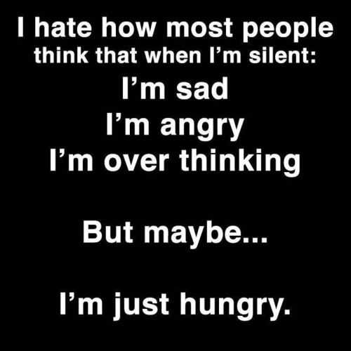 maybe i am just hungry funny quote