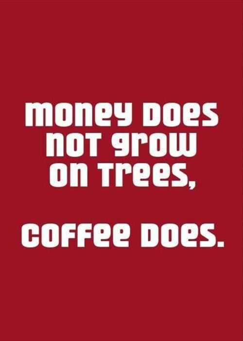 money does not grow on trees but coffee does