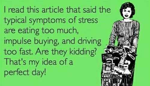 symptoms of stress ecard