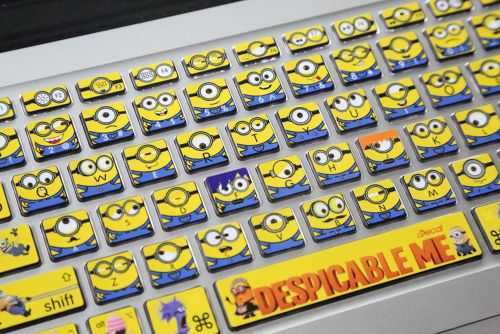 despicable me minions laptop keyboard stickers decals 014
