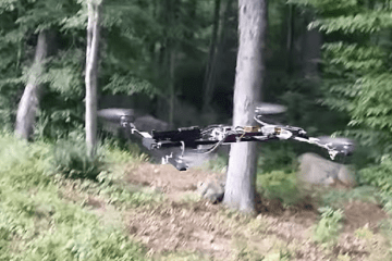 Flying Drone Shooting A Pistol video featured