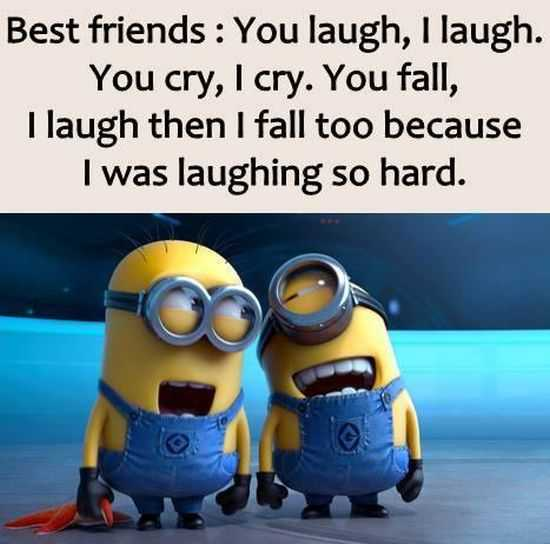Quotes About Best Friends And Laughter : Funny minions pictures of the week