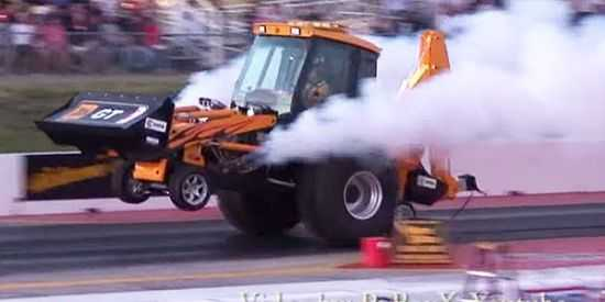 JBT GT Dragster Backhoe fastest backhoe in the world video 001