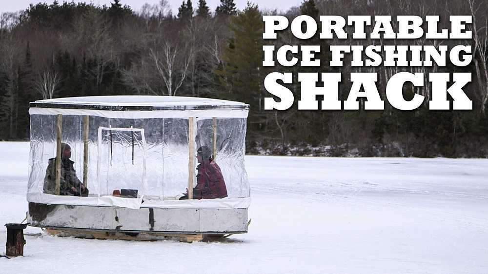 DIY Portable Ice Fishing Shack video featured