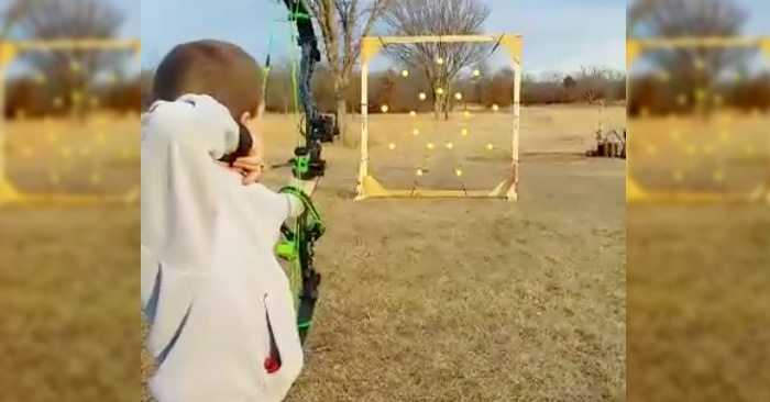 Guy Makes A Pretty Awesome Archery Target And Game softballs video featured