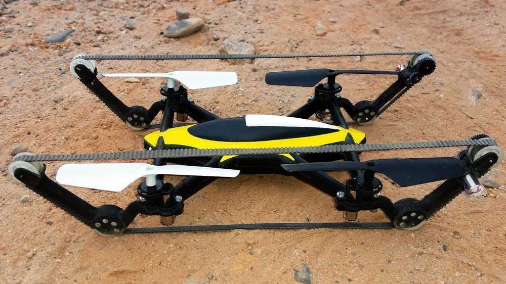The B-Unstoppable - The World's First Commercially Available Hybrid Tank-Quadcopter video featured