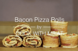 how to make bacon pizza rolls video featured 2