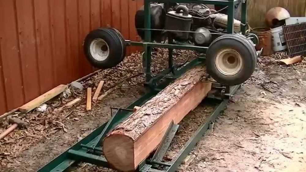 How To Turn An Old Golf Cart into A Sawmill - Video featured