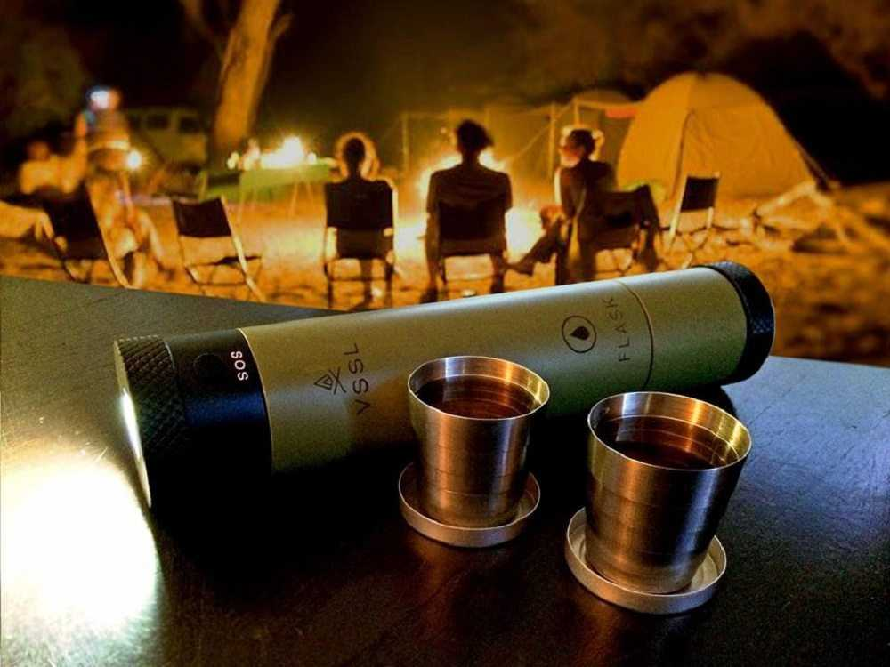 The VSSL Flashlight Flask featured