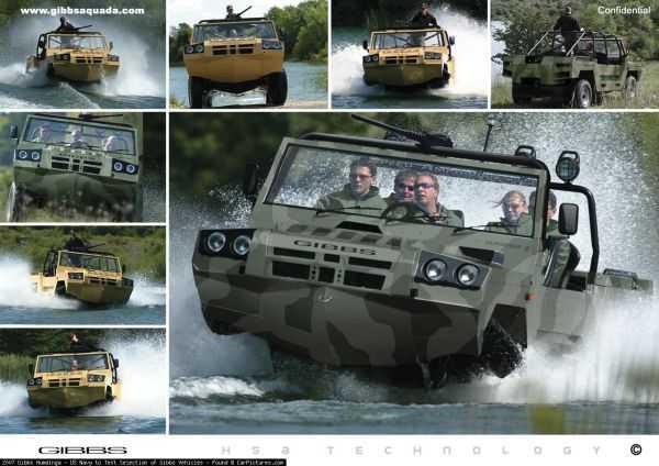 gibbs Humdinga amphibious truck vehicle boat pics 001