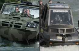 gibbs Phibian and humdinga Amphibious truck vehicle boat videos featured