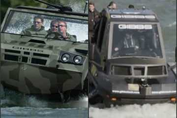 gibbs Phibian and humdinga Amphibious truck vehicle boat videos featured
