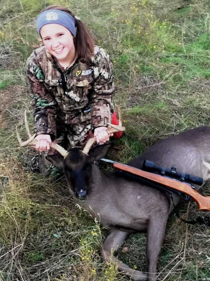 A Teen In Texas Harvests An Ultra Rare All Black Whitetail Buck Pictures 1