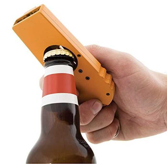 Beer Bottle Opener - Bottle Cap Launcher - Keychain 002