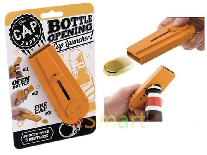 Beer Bottle Opener - Bottle Cap Launcher - Keychain 004