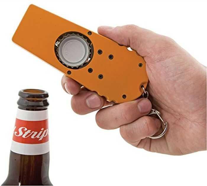 Beer Bottle Opener - Bottle Cap Launcher - Keychain 005