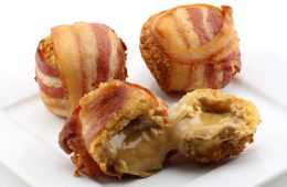 Deep Fried Bacon Wrapped Peanut Butter Balls Video Featured