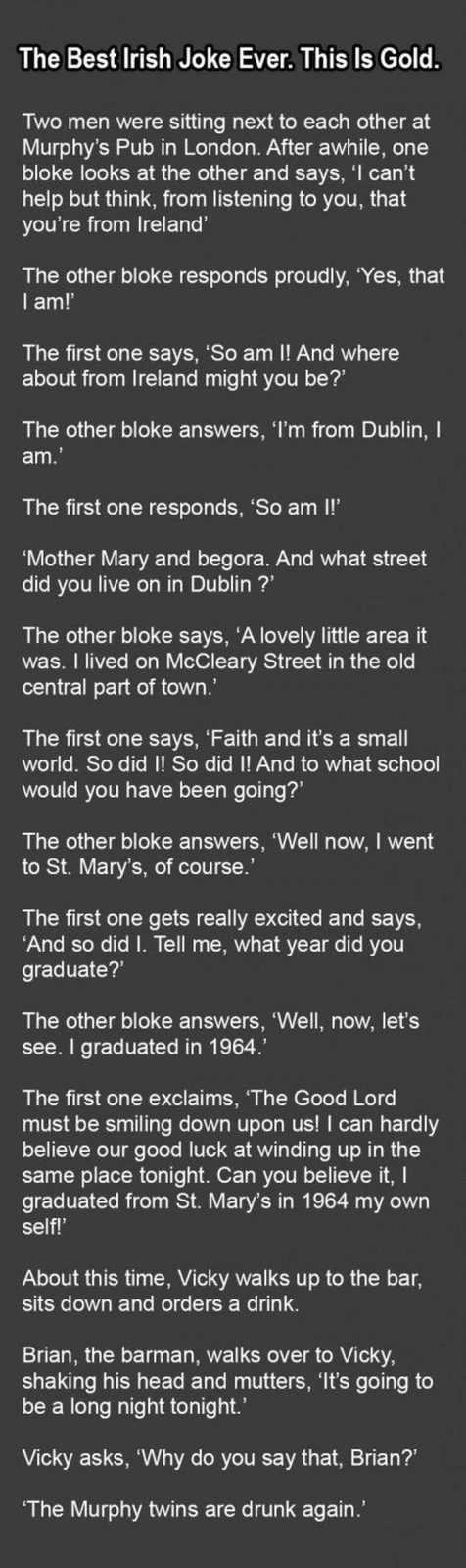 One Of Our Funny Stories About Irish Men