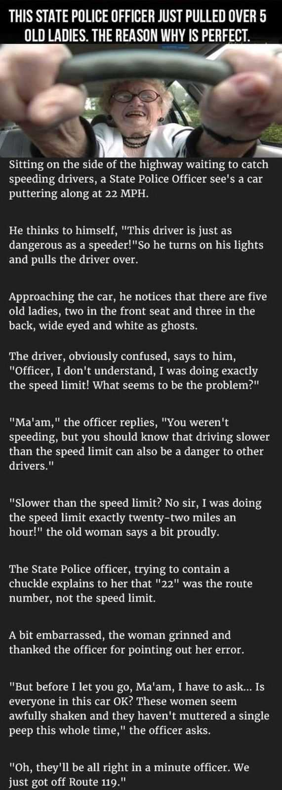 Funniest Story About Old Ladies Pulled Over By A Cop