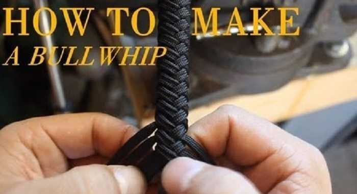 paracord bullwhip how to make one video