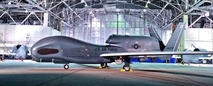 ASIP Block 30M RQ-4B Global Hawk glamour shoot at Edwards Hangar