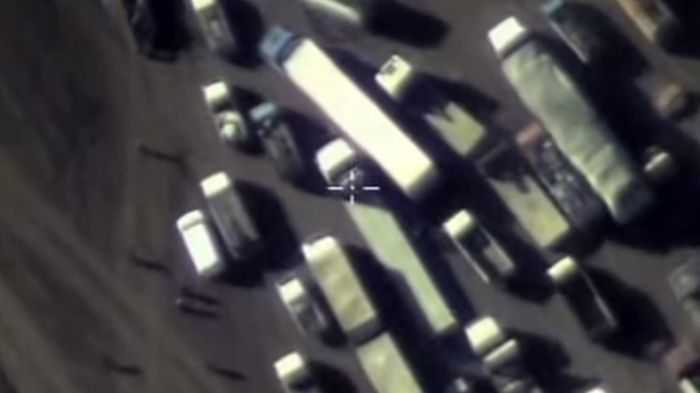 Russia Spots Then Bombs 12,000 ISIS Oil Trucks pictures 001