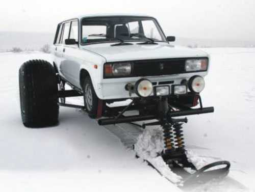 Car Snowmobile Thing - Meet The Snowfootcar Conversion pictures