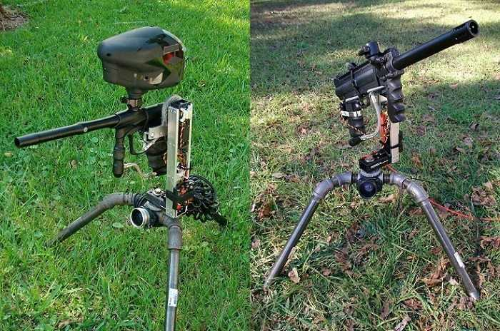 Fully Automated Paintball Sentry Gun pics