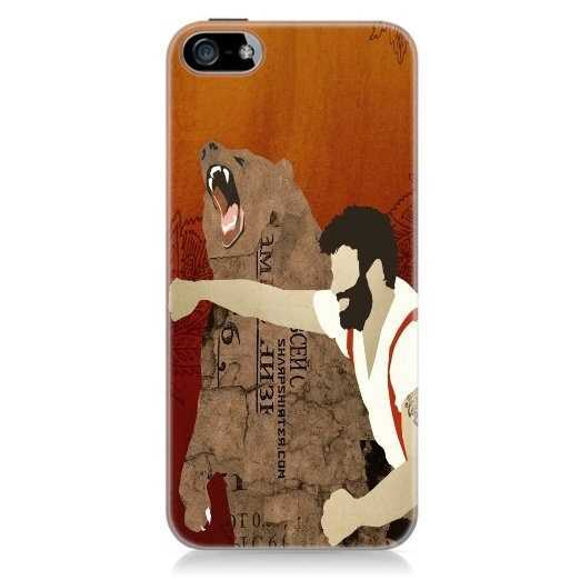 Man Punching A Bear Cell Phone Case pictures