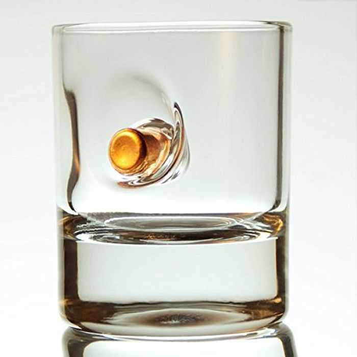 Meet The Bulletproof Shot Glass - Handmade Shot Glass With Real Bullets pictures 001