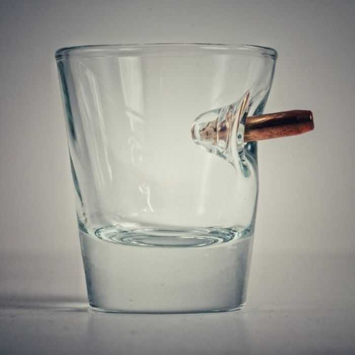 Meet The Bulletproof Shot Glass - Handmade Shot Glass With Real Bullets pictures 003