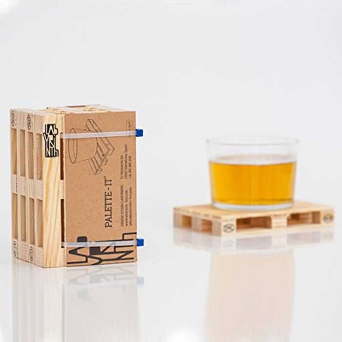 Mini Wooden Palette Drink Coasters pictures 001
