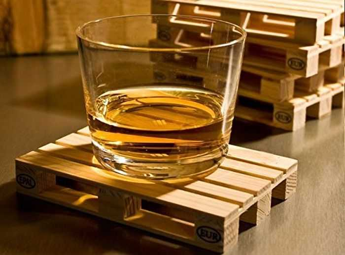 Mini Wooden Palette Drink Coasters pictures 003