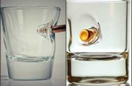 Bulletproof Shot Glass - Handmade Shot Glass Made With Real Bullets