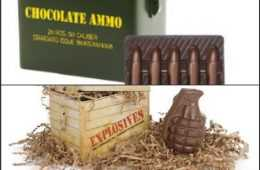 chocolate ammo and chocolate hand grenade valentines day gift for gun guys