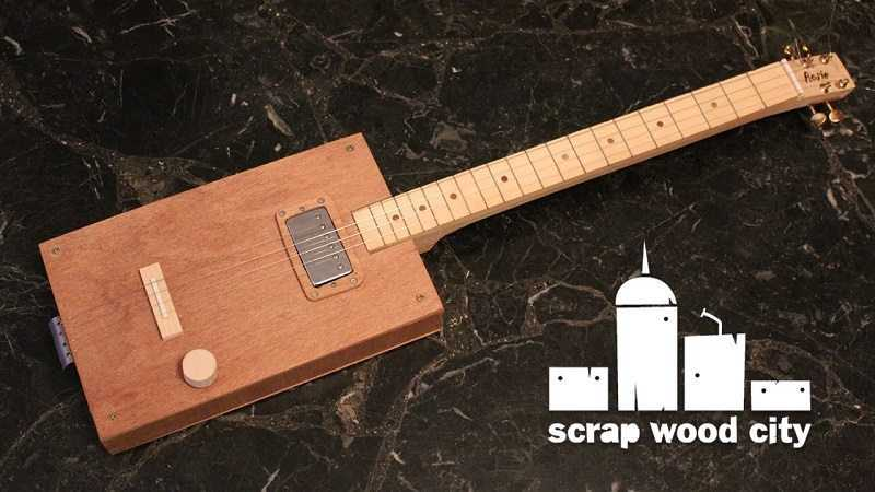 how to build a 3 string cigar box electric guitar for less than. Black Bedroom Furniture Sets. Home Design Ideas