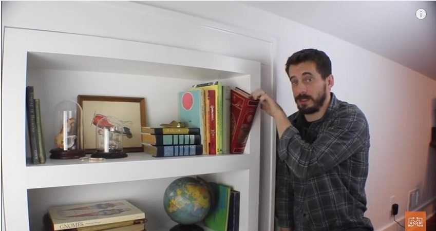 How To Make A Bookcase Secret Door featured